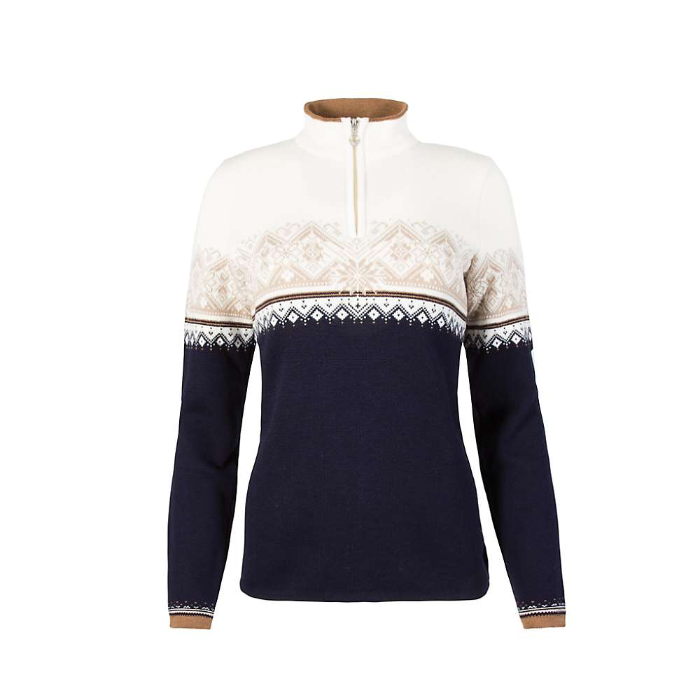 Dale Of Norway Women's St. Moritz Feminine Sweater - Large - Navy / Bronze / Beige / Off White