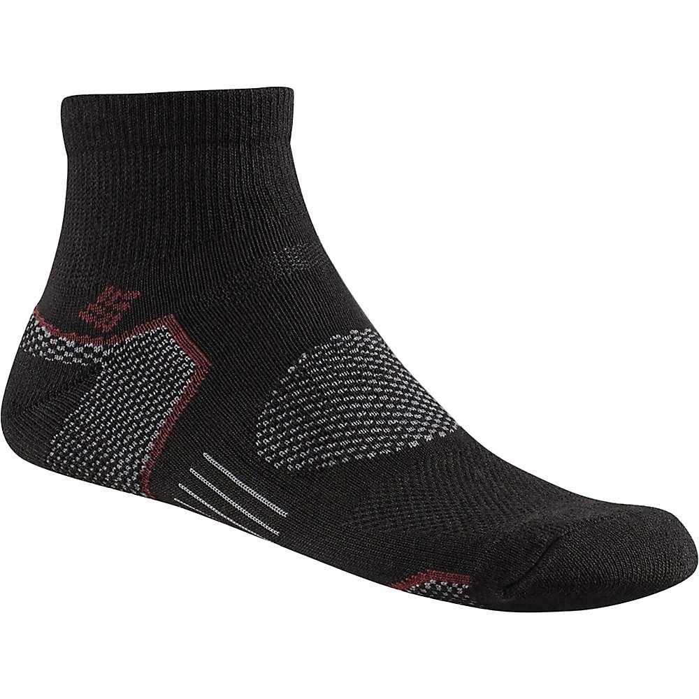 Columbia Men's Balance Point Walking Quarter Sock - One Size - Black