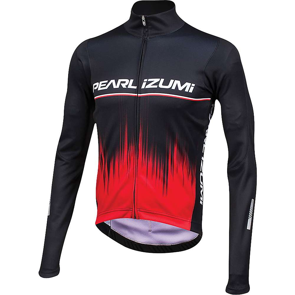 Pearl Izumi Men's ELITE Pursuit Thermal Graphic Jersey - Small - True Red Rush