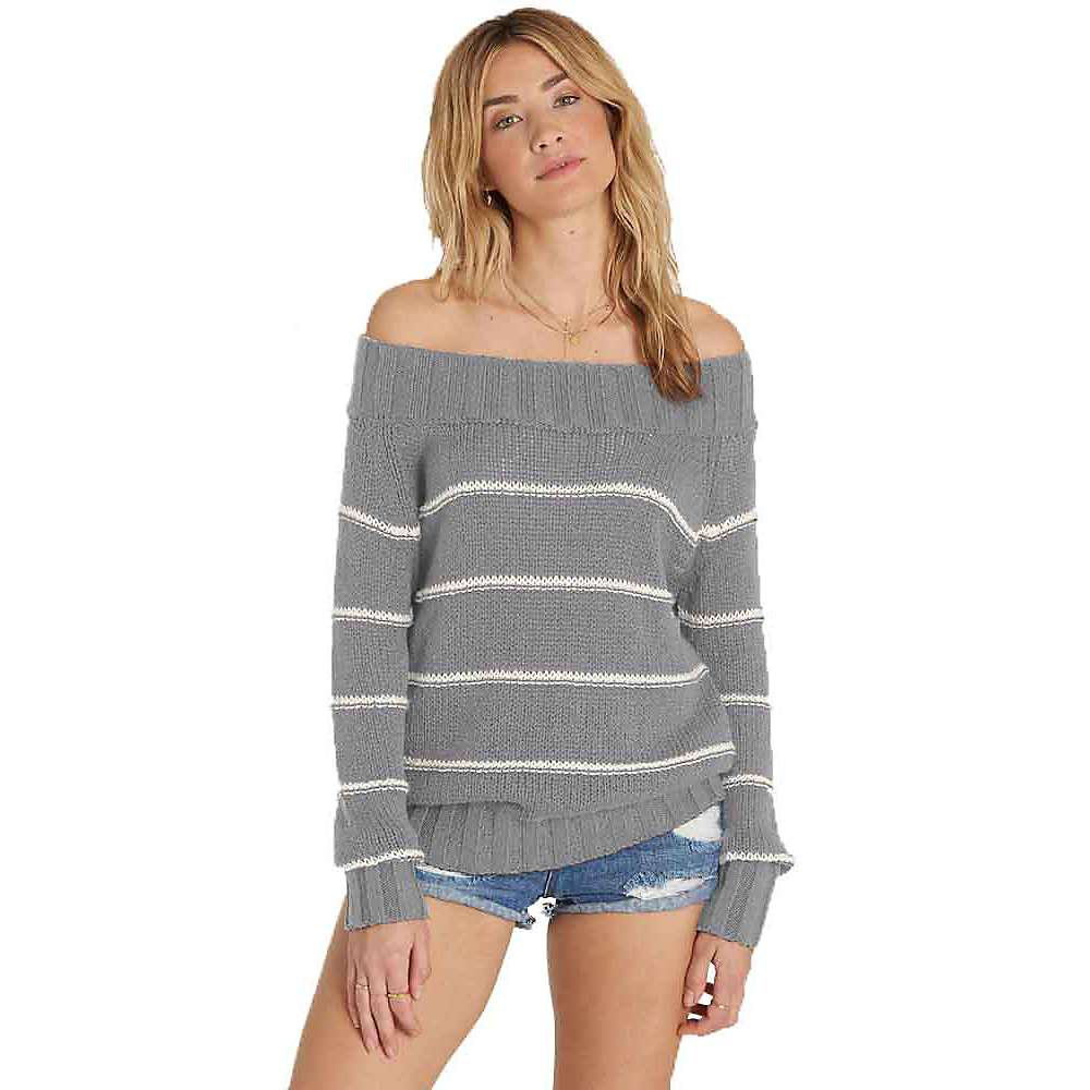 Billabong Women's Snuggle Down Sweater - Large - Athletic Grey