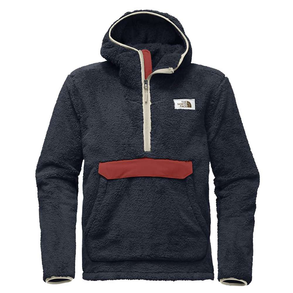 The North Face Men's Campshire Pullover Hoodie - XXL - Urban Navy / Bossa Nova Red