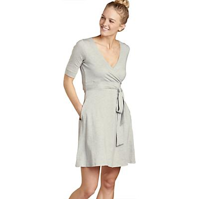 Toad & Co Cue Wrap CafT Dress - Heather Grey - Women