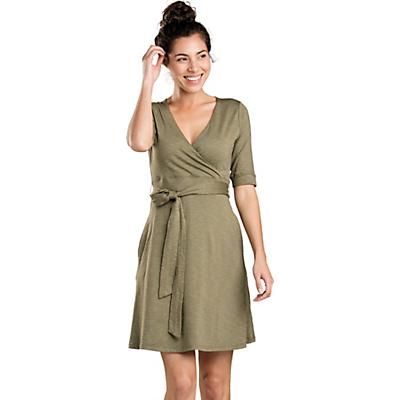 Toad & Co Cue Wrap CafT Dress - Rustic Olive - Women