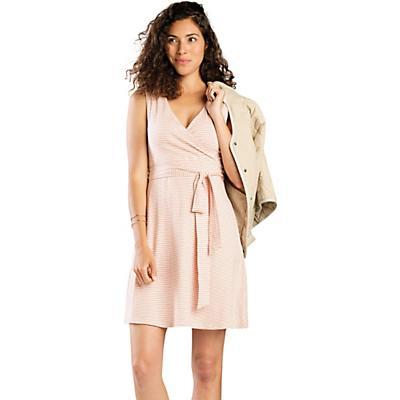 Toad & Co Cue Wrap SL Dress - Pink Sand Mini Stripe - Women