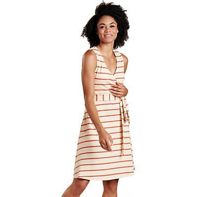Toad & Co Cue Wrap SL Dress - Desert Wide Stripe - Women