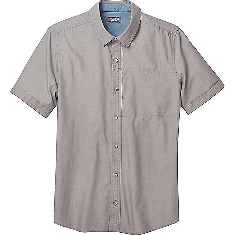Toad & Co Men's Cutler SS Shirt Smoke Toad & Co Men's Cutler SS Shirt - Smoke - in stock now. FEATURES of the Toad & Co Men's Cutler Short Sleeve Shirt Lightweight Wash-and-wear easy care Hidden zipper secure chest pocket Contrast buttonhole and zigzag stitch inside neck