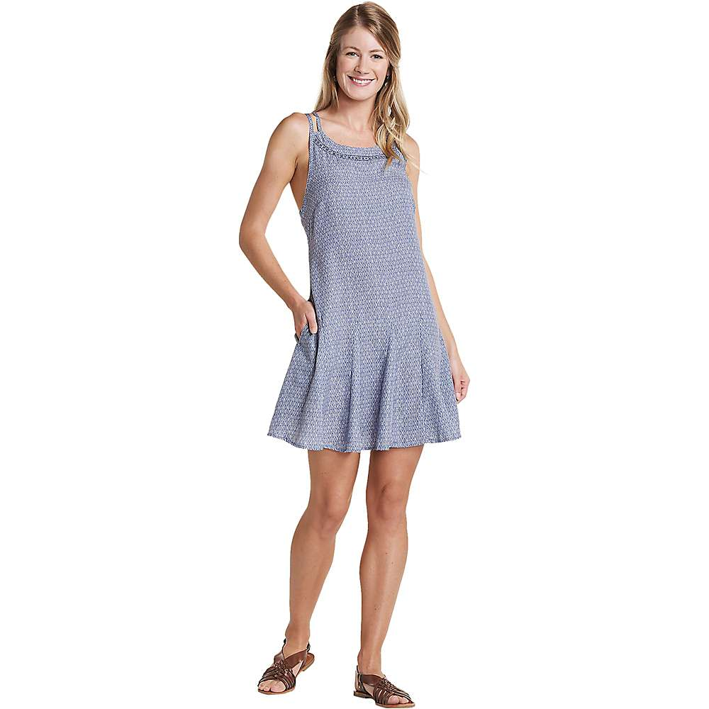 Toad & Co Windsong Strappy Dress - XS - Blueberry Diamond Print