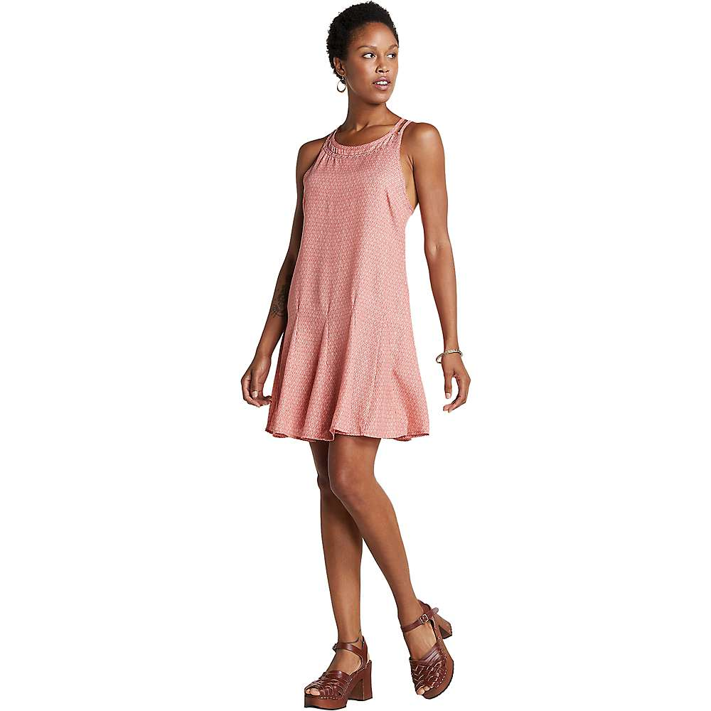 Toad & Co Windsong Strappy Dress - XS - Guava Diamond Print
