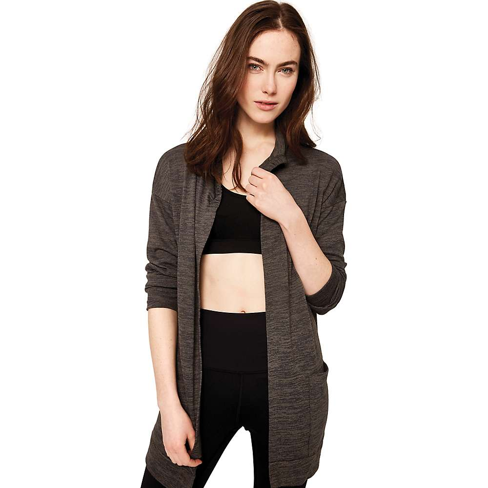 Lole Women's Caissy Cardigan - Large - Black Heather