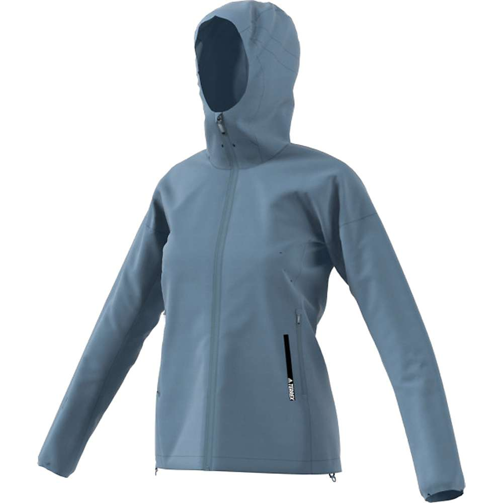 Adidas Women's Agravic Alpha Shield Hoodie - Large - Raw Grey