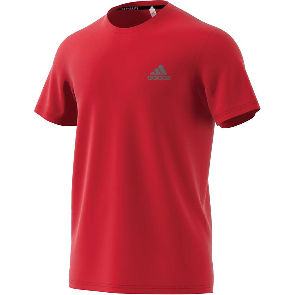 Adidas Men's Essentials Tech SS Tee - Large - Scarlet / Scarlet