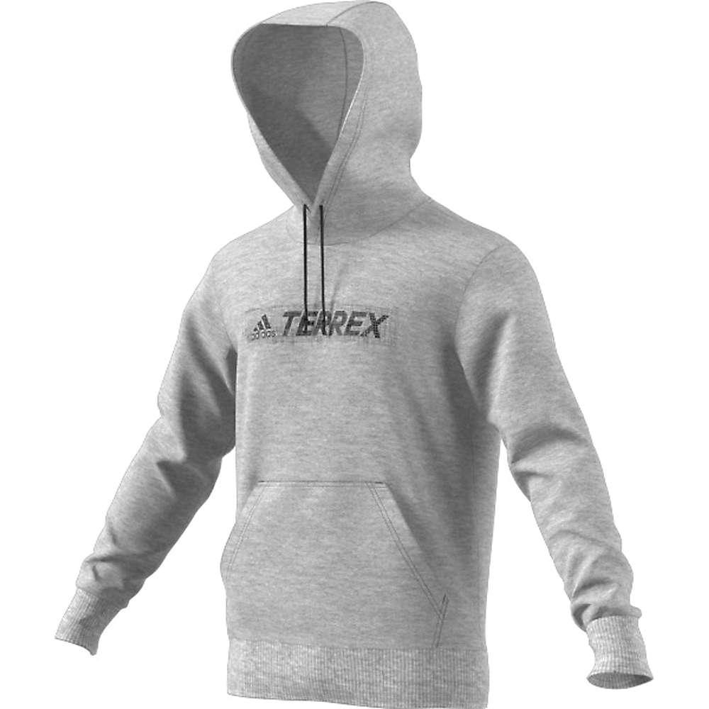 Adidas Men's Logo Hoodie - Medium - Medium Grey Heather