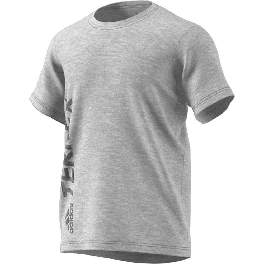 Adidas Men's Logo Tee - Medium - Medium Grey Heather
