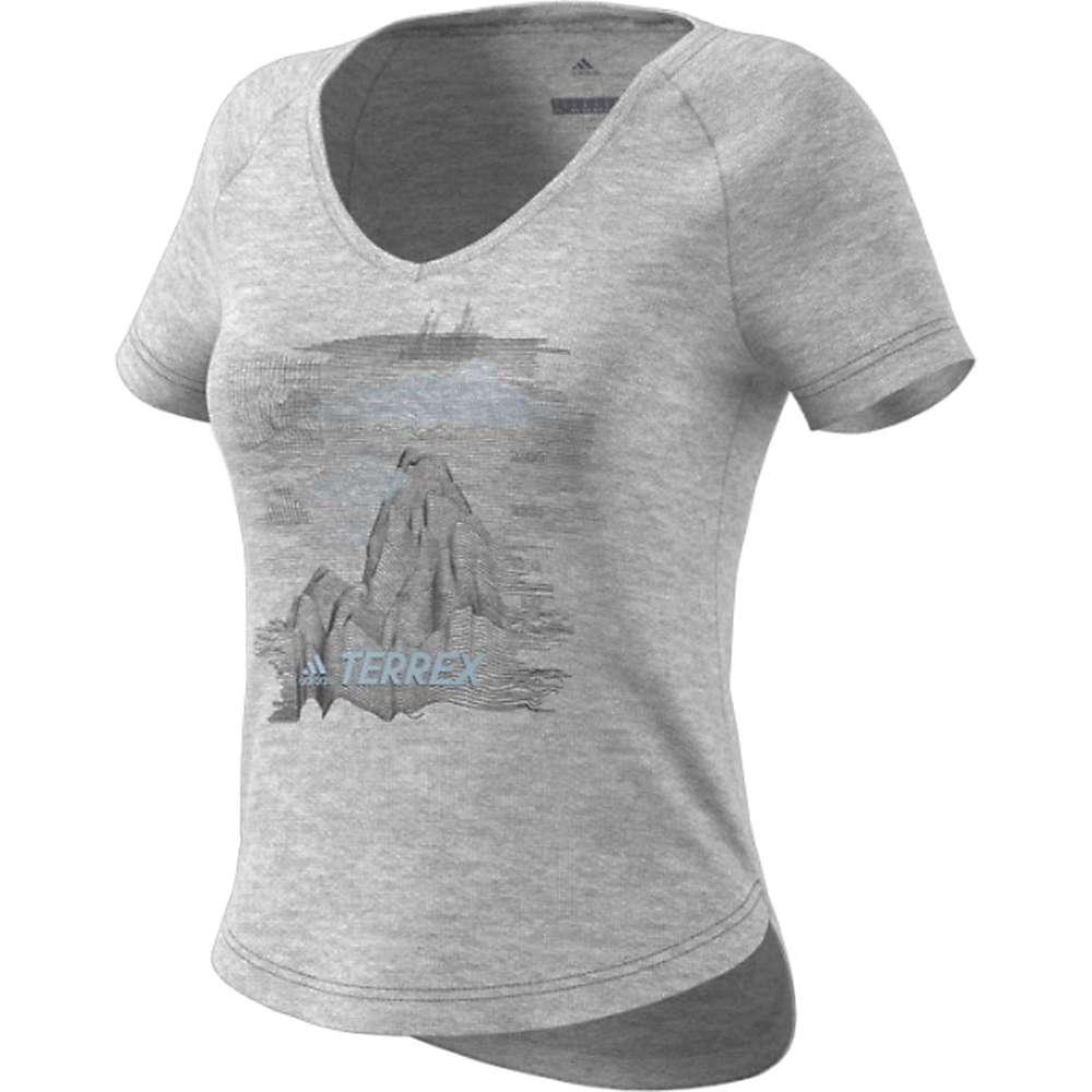 Adidas Women's Mountain Tee - Small - Medium Grey Heather
