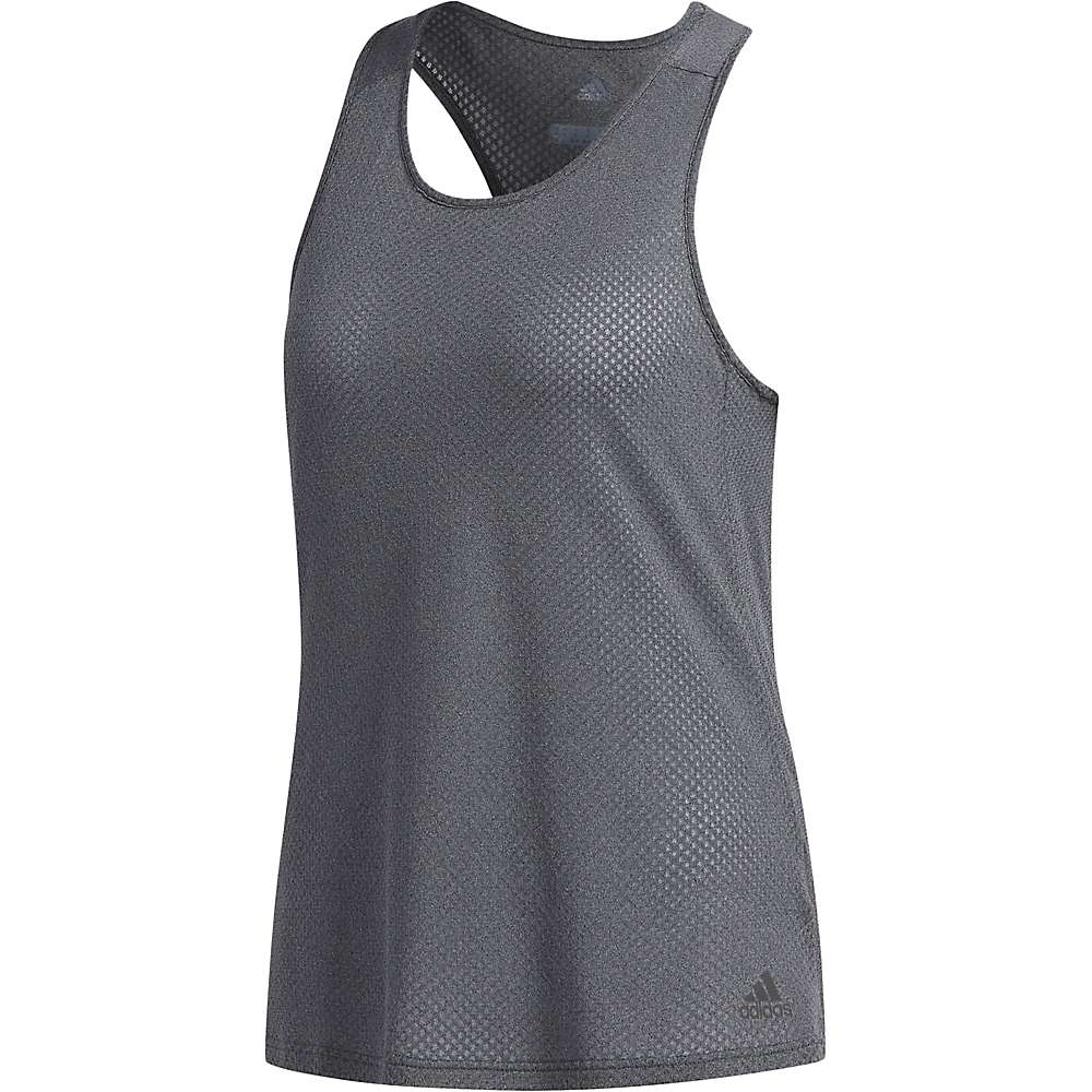 Adidas Women's Response Tank - Large - Dark Grey Heather