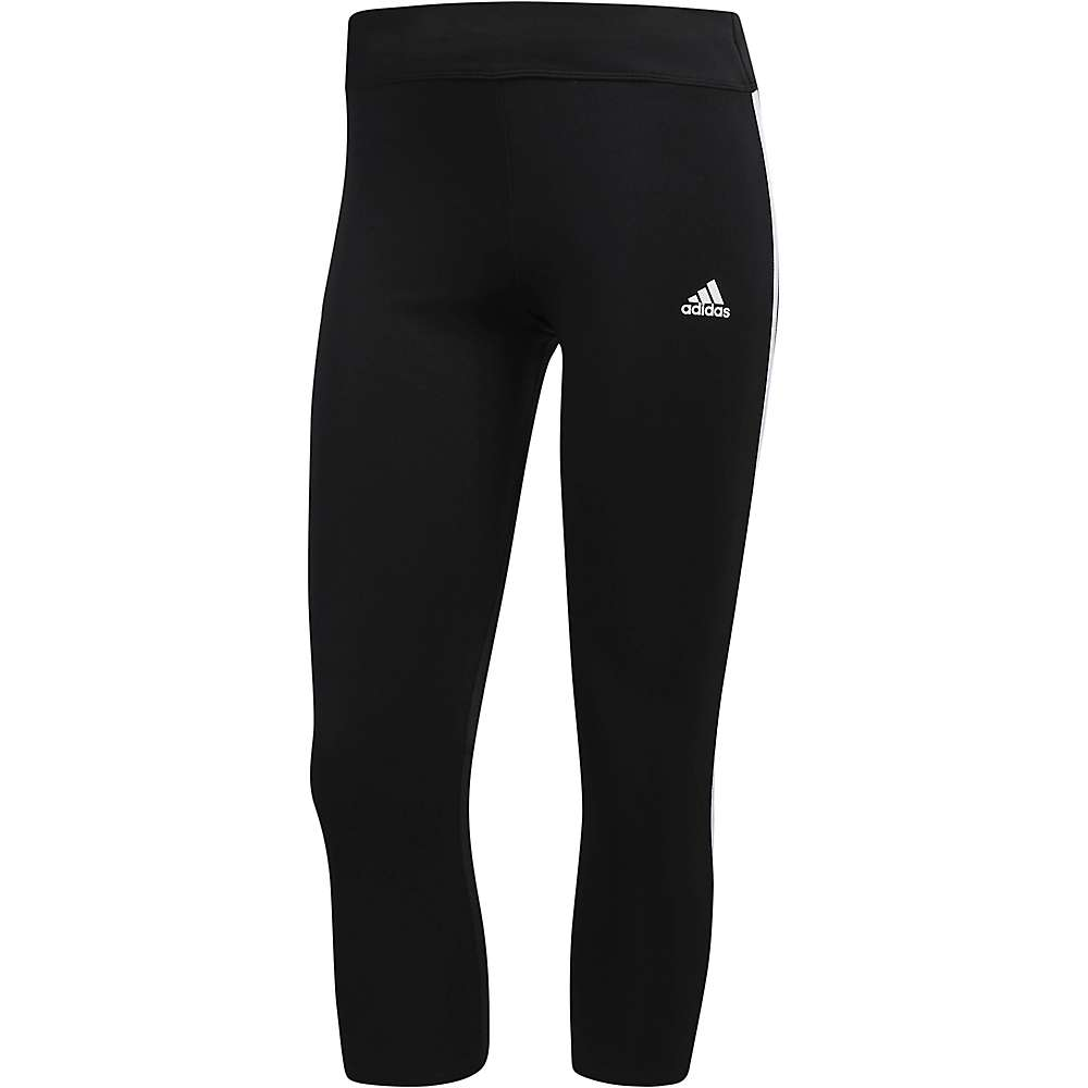 Adidas Women's Response 3/4 3-Stripe Tight - Large - Black / White