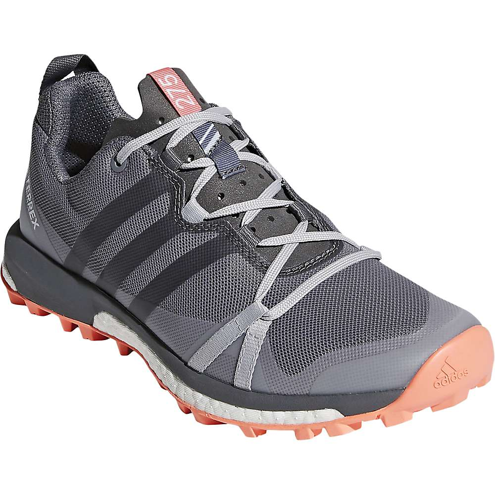 Adidas Women's Terrex Agravic Shoe - 6 - Grey Three / Grey Four / Chalk Coral