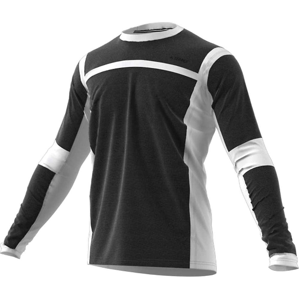 Adidas Men's Terrex Agravic Hybrid LS Top - Medium - White / Black