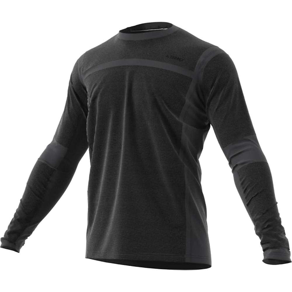 Adidas Men's Terrex Agravic Hybrid LS Top - Small - Carbon / Black