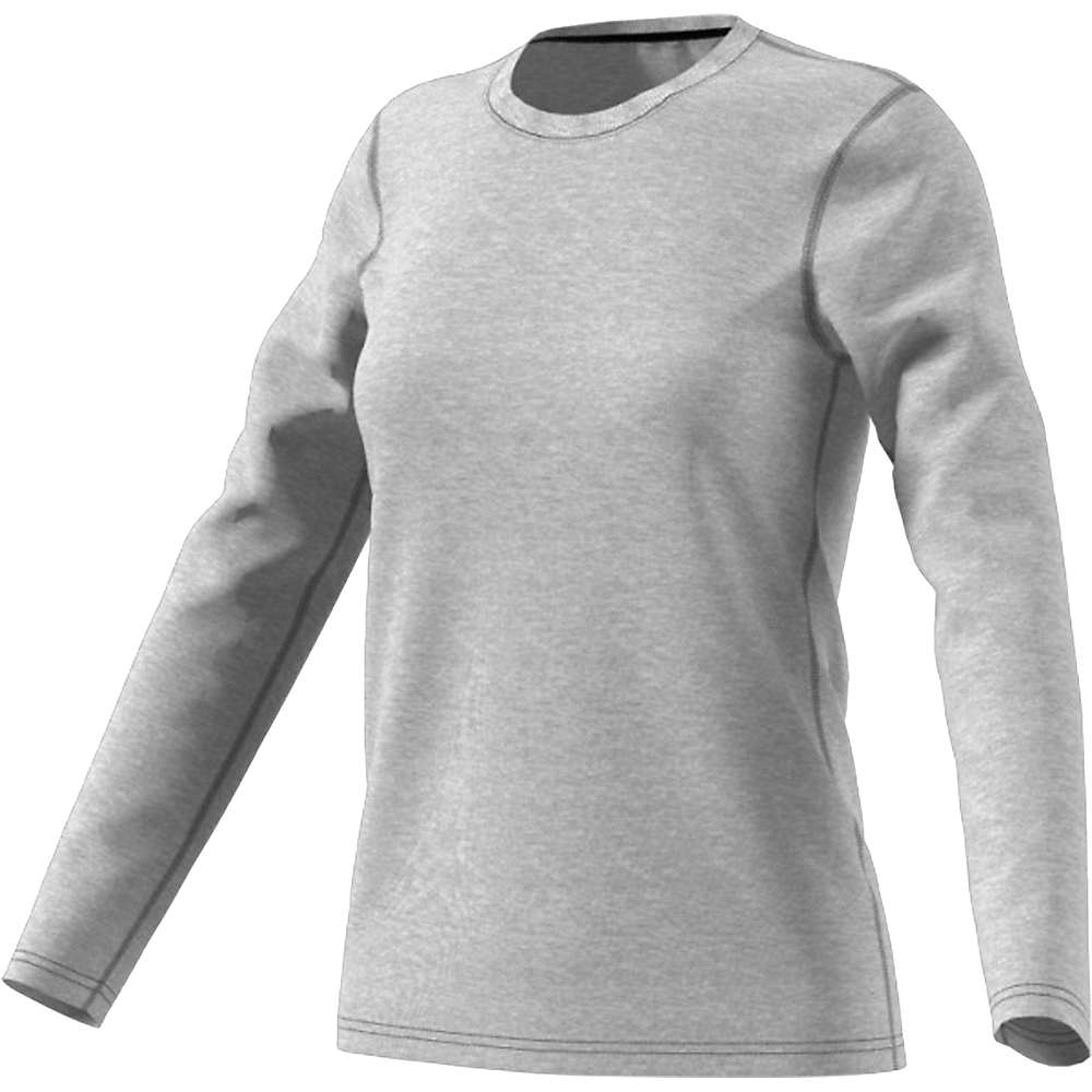 Adidas Women's Ultimate LS Top - Large - Medium Grey Heather / Black