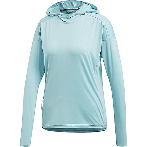 Adidas Women's Voyager Parley Hoodie Blue Spirit Adidas Women's Voyager Parley Hoodie - Blue Spirit - in stock now. FEATURES of the Adidas Women's Voyager Parley Hoodie Parley for the ocean: with yarn features reclaimed and recycled ocean waste Climalite: Fast-drying material with moisture absorption Zipper side pocket: To keep all your belongings safe UPF 50+