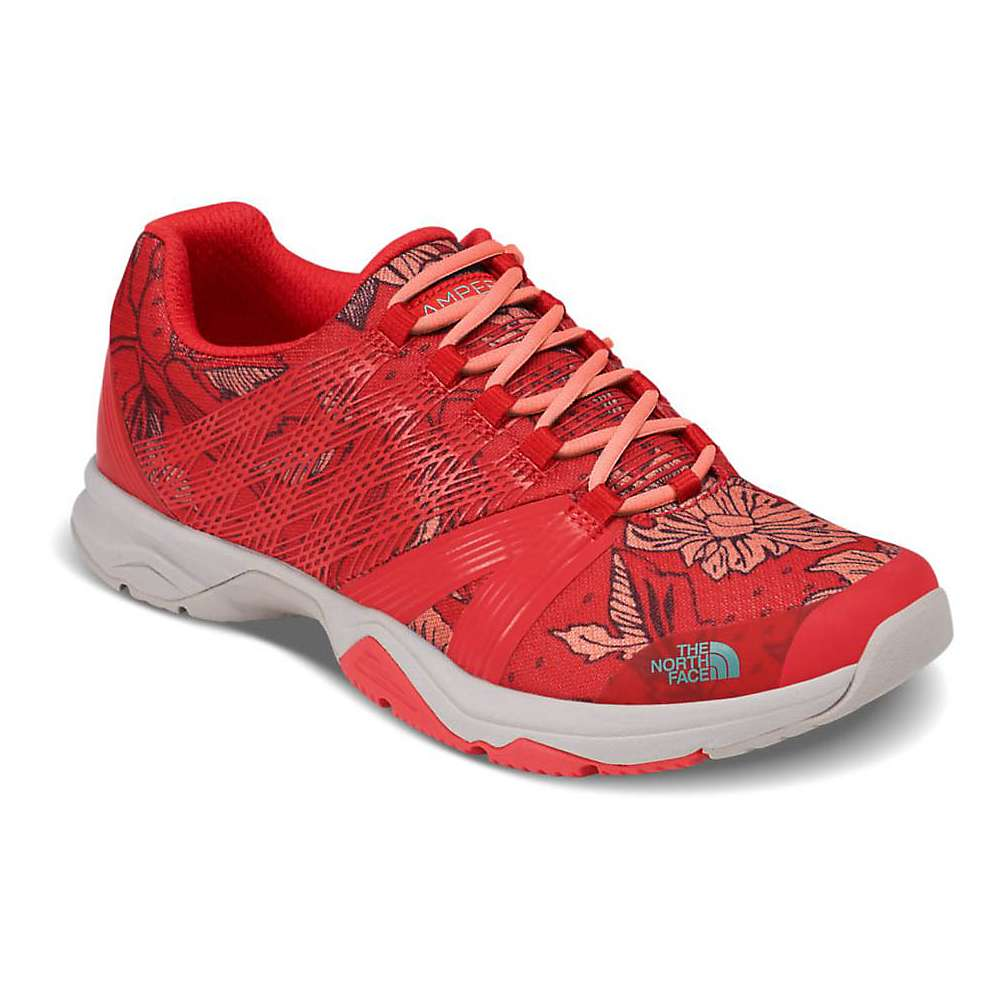 The North Face Women's Litewave Ampere II Printed Shoe - 6 - Juicy Red Peony Print / Bristol Blue