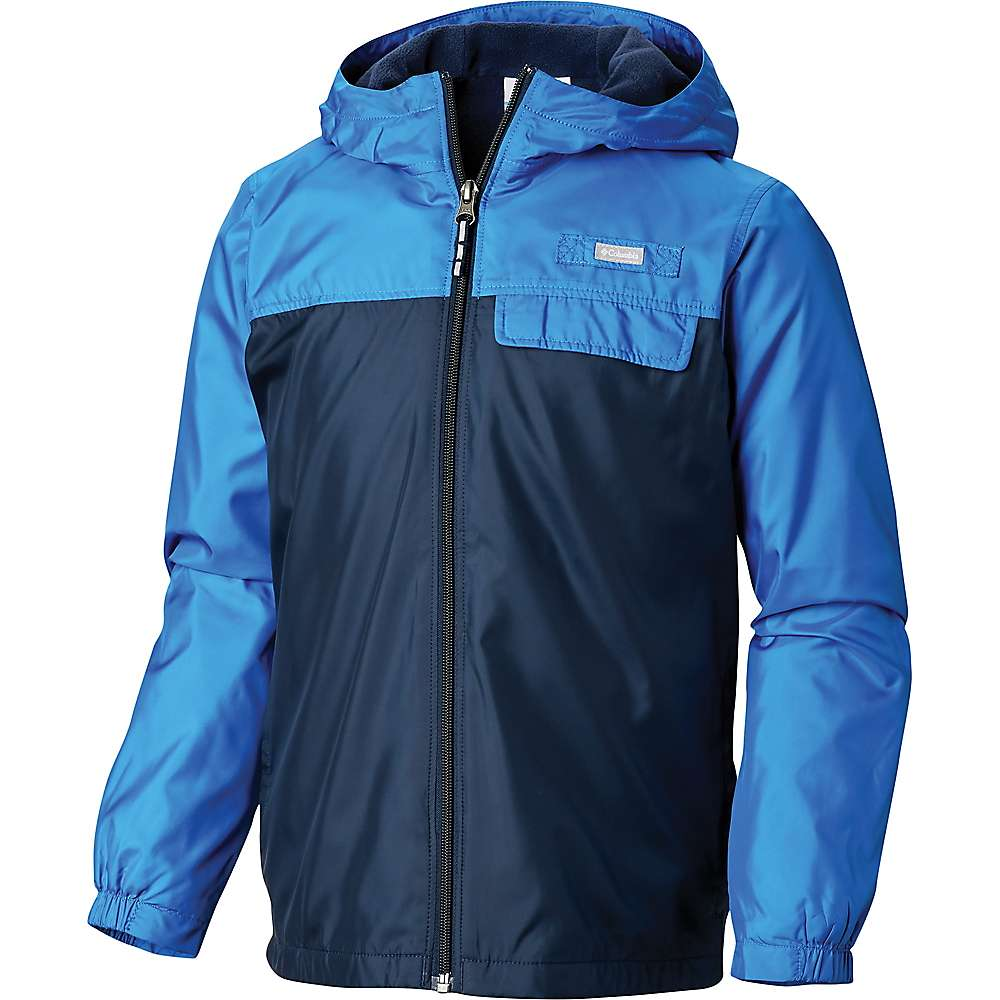 Columbia Youth Mountain Side Lined Windbreaker Jacket - XS - Collegiate Navy / Super Blue