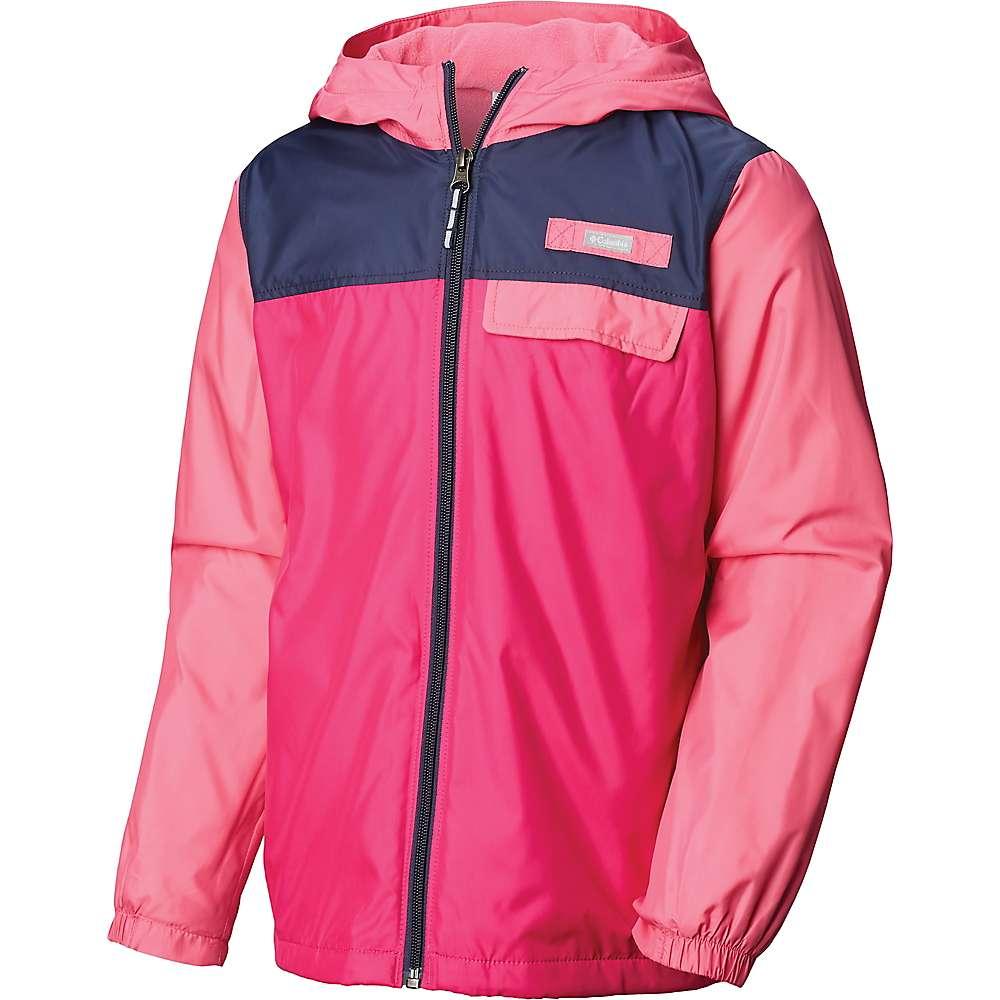Columbia Youth Mountain Side Lined Windbreaker Jacket - Small - Haute Pink / Wild Geranium