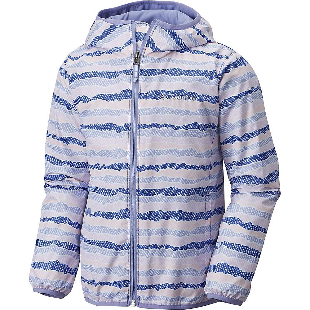 Columbia Youth Pixel Grabber II Wind Jacket - Small - Clematis Blue Stripe / Fairytale