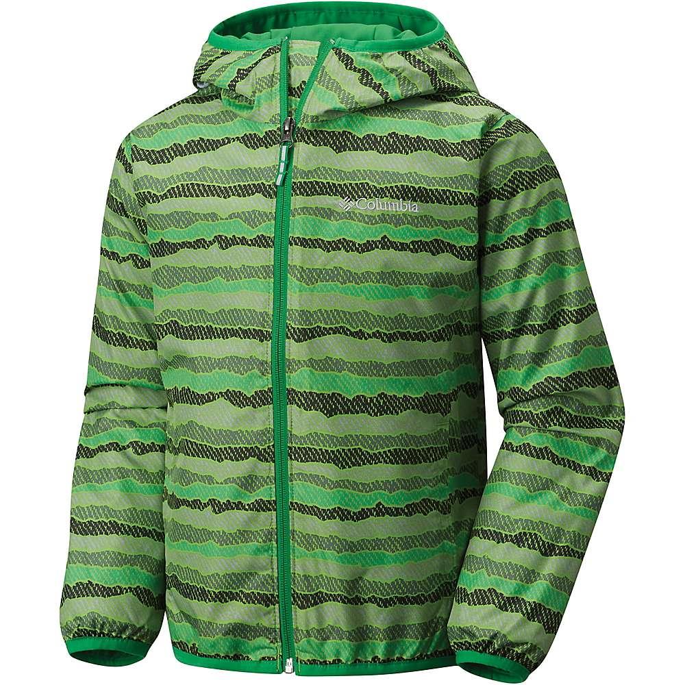 Columbia Youth Pixel Grabber II Wind Jacket - Small - Cyber Green Stripe / Fuse Green