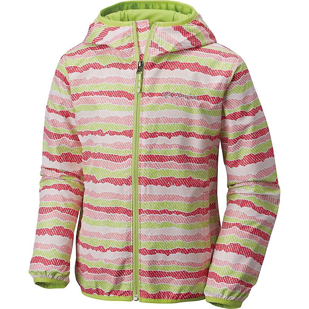 Columbia Youth Pixel Grabber II Wind Jacket - Medium - Lollipop Stripe / Green Glow