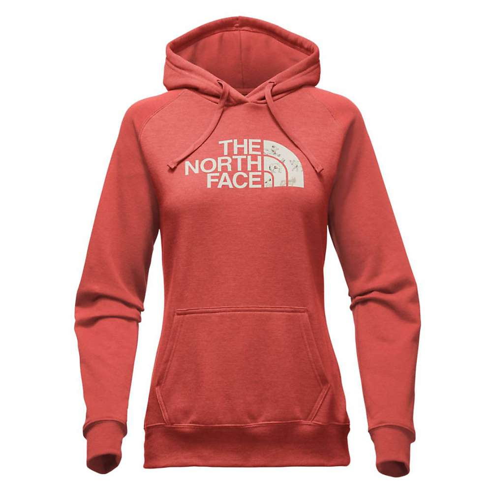 The North Face Women's Half Dome Hoodie - XL - Sunbaked Red Heather / Vintage White Coyotes Print