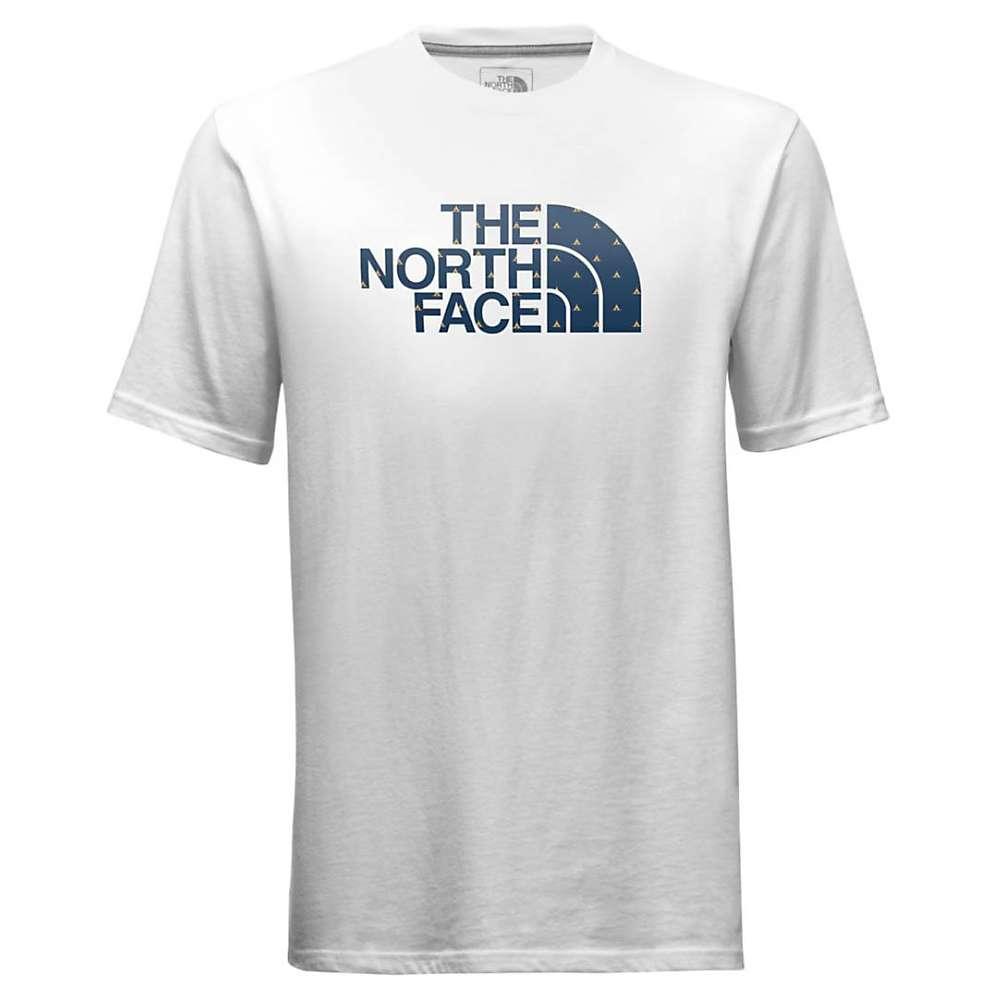 The North Face Men's Half Dome Logo Fill SS Tee - Medium - TNF White / Shady Blue Tent Print
