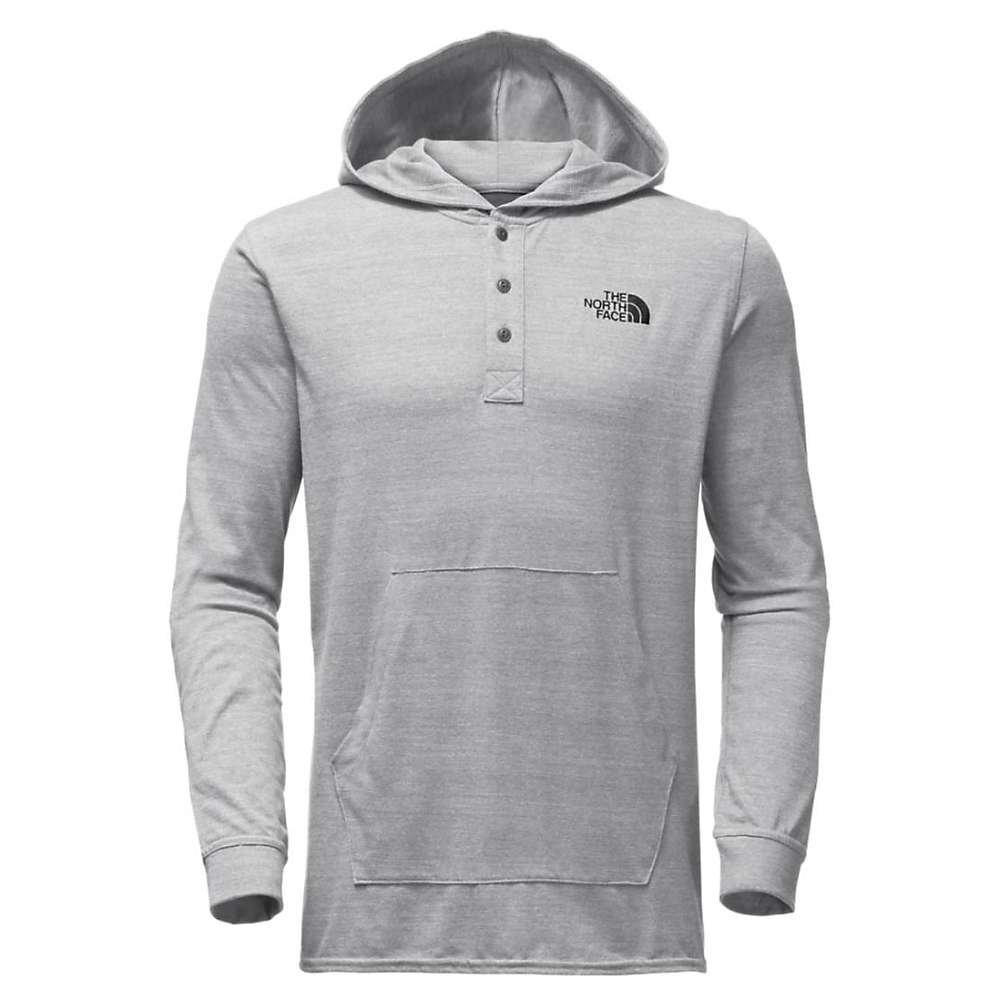 The North Face Men's Henley Tri-Blend Hoodie - XL - TNF Medium Grey Heather / Weathered Black