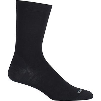 Icebreaker Lifestyle Fine Gauge Ultra Light Crew Sock - LXL - Black