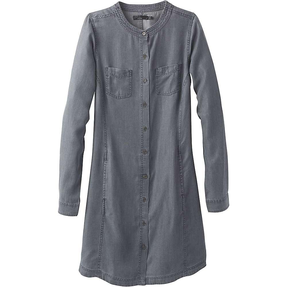 Prana Women's Aliki Shirt Dress - Small - Grey Wash
