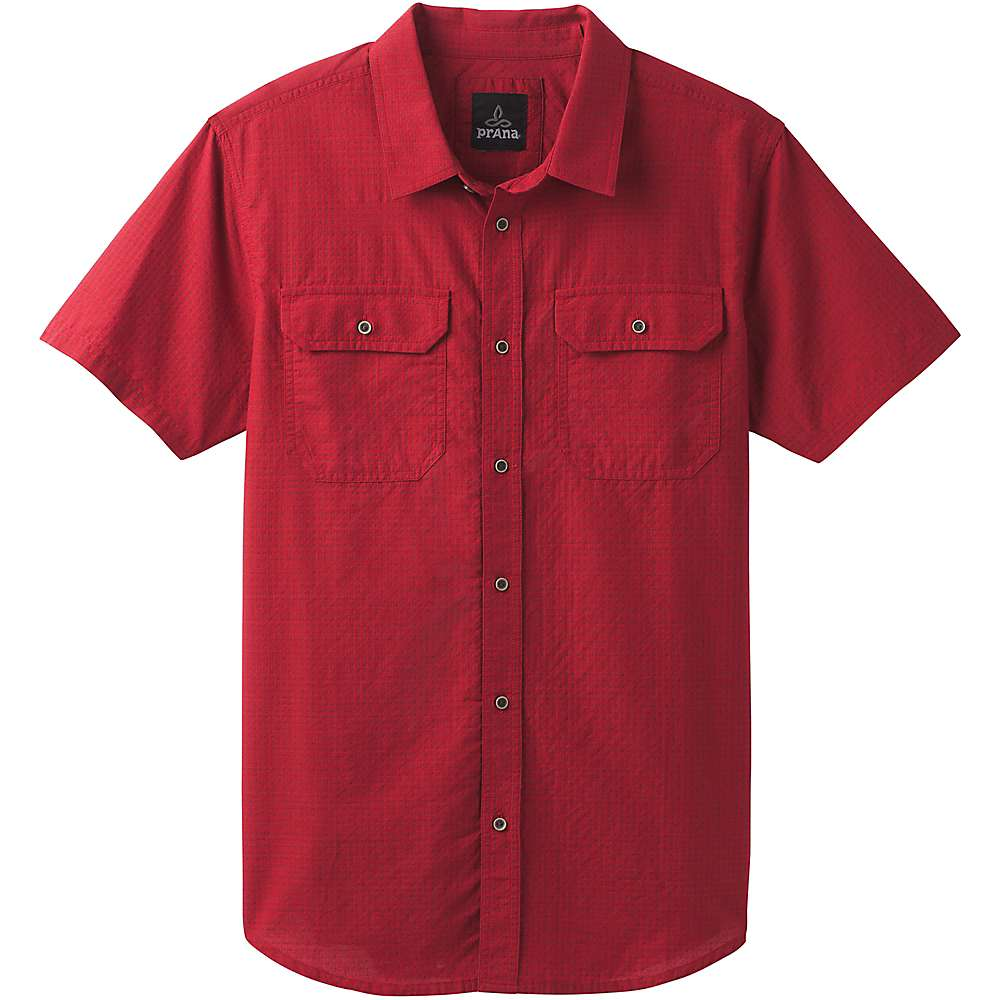 Prana Men's Blakely SS Shirt - XXL - Crimson