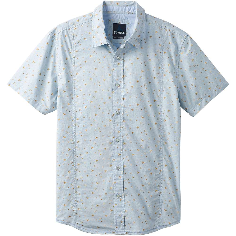 Prana Men's Lukas SS Shirt - Small - Beaming Blue