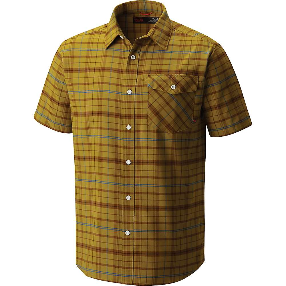 Mountain Hardwear Drummond Short Sleeve Shirt - Dark Citron