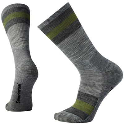 Smartwool Striped Hike Light Crew Sock - XL - Light Grey