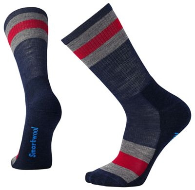 Smartwool Striped Hike Light Crew Sock - Medium - Deep Navy
