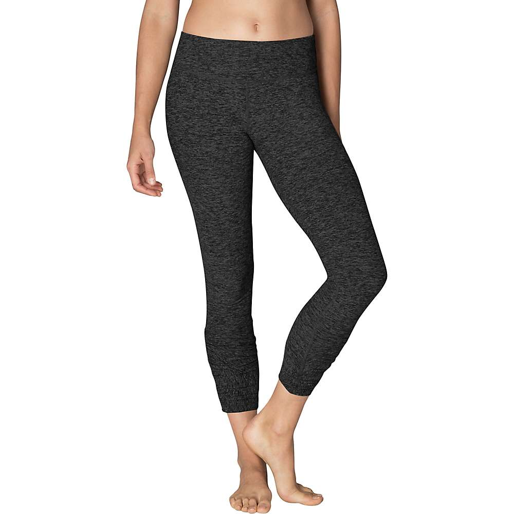Beyond Yoga Women's Spacedye Bungee Up Adjustable Legging - XL - Black / Charcoal