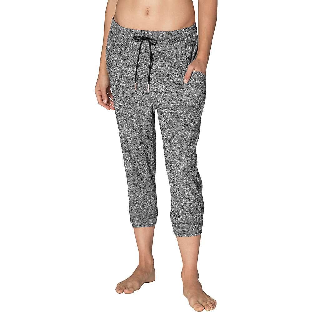 Beyond Yoga Women's Weekend Traveler Midi Sweatpant - Small - Black / White Space Dye