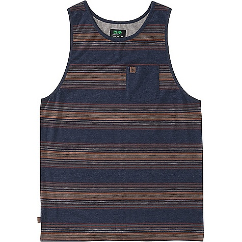 HippyTree Men's Lexington Tank Heather Navy HippyTree Men's Lexington Tank - Heather Navy - in stock now. FEATURES of the HippyTree Men's Lexington Tank Fine knit jersey tank top with yarn dyed jacquard stripes Chest pocket Debossed leather labels on chest pocket and side seam Contrast interior yoke
