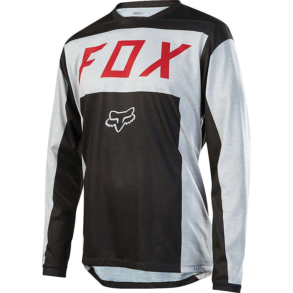 Fox Men's Indicator Moth LS Jersey - Medium - Light Grey