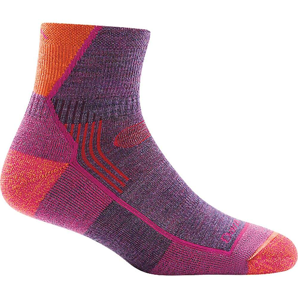 Darn Tough Women's Hiker 1/4 Cushion Sock - Small - Plum Heather