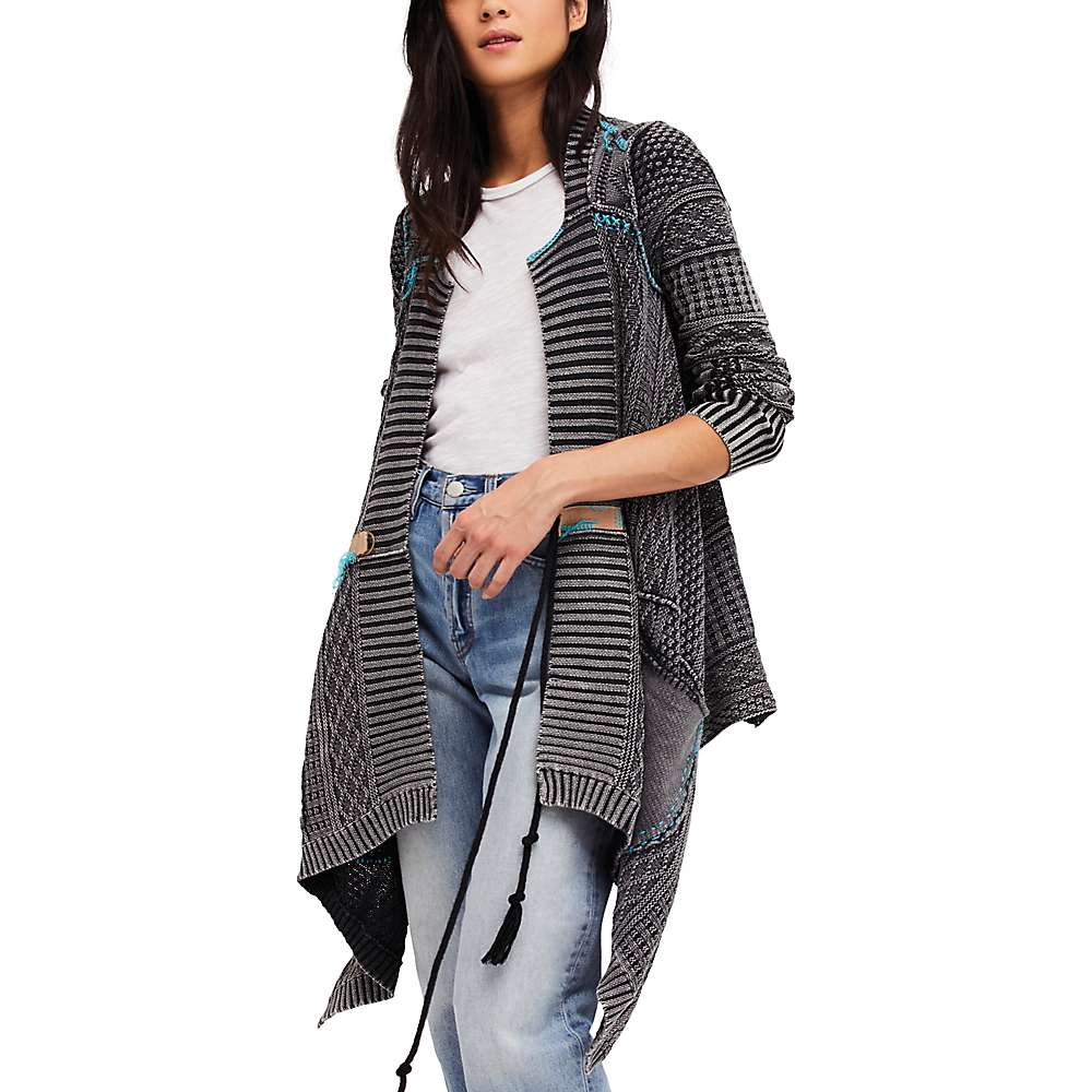 Free People Women's All Washed Out Cardi - XS - Black Combo