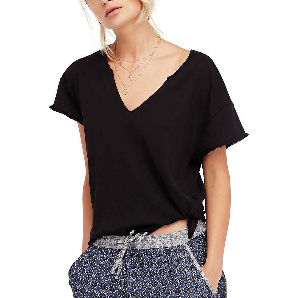 Free People Women's Lilly Tee - XS - Black