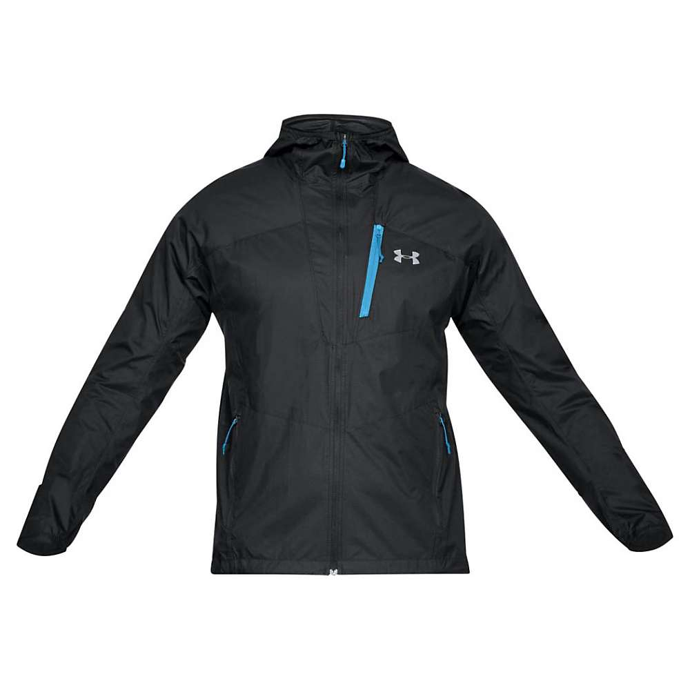 Under Armour Men's Mission Jacket - XL - Black / Cruise Blue / Graphite