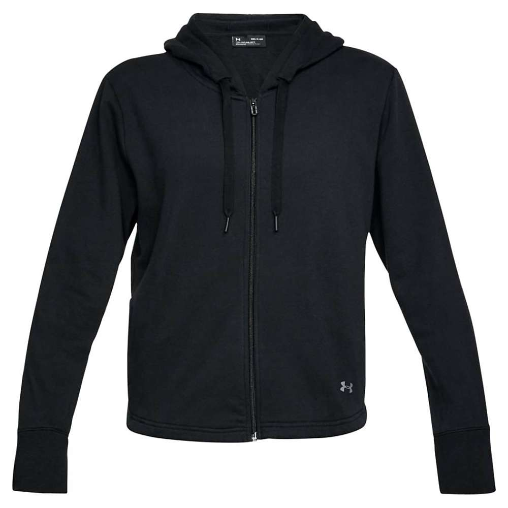 Under Armour Women's UA Favorite Fleece Full Zip Hoodie - Medium - Black / White / Tonal